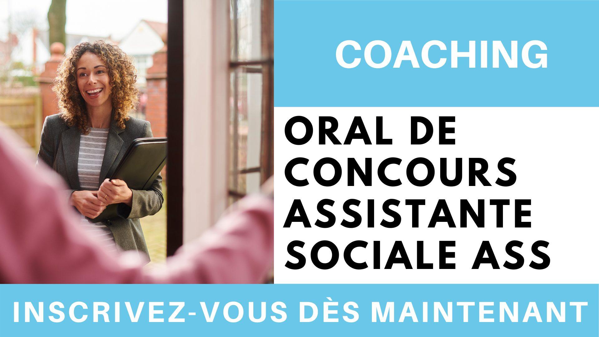 Coaching oral de concours assistante sociale ASS