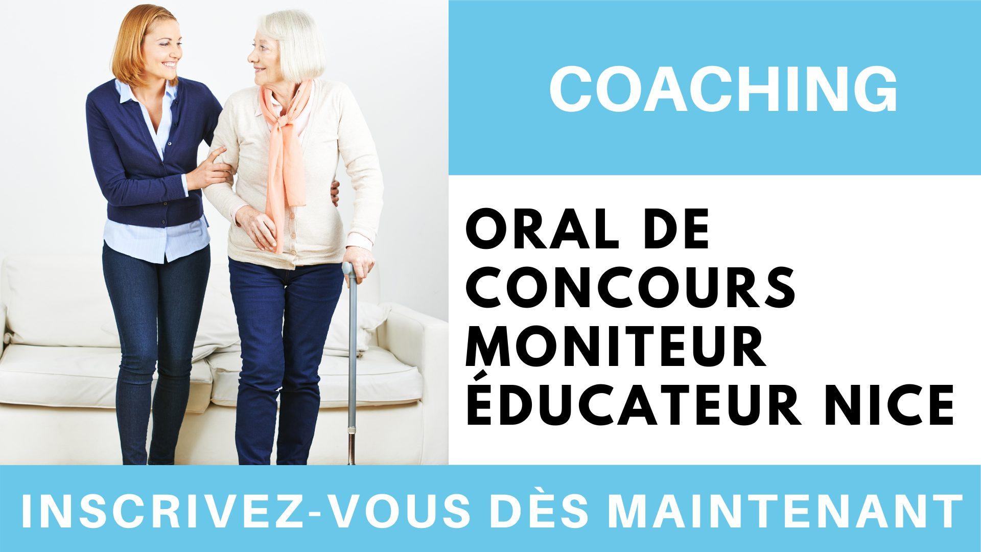 Coaching oral de concours moniteur éducateur ME NICE