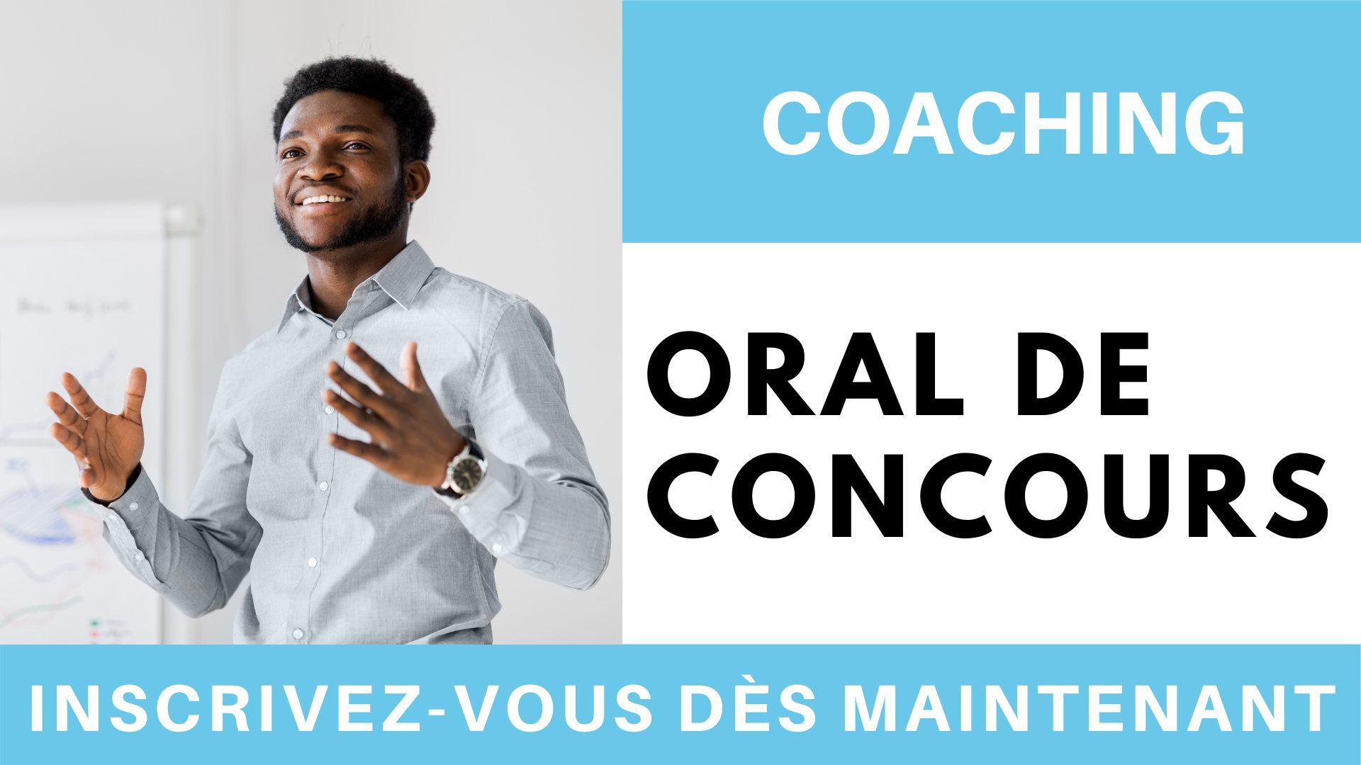 Coaching oral de concours
